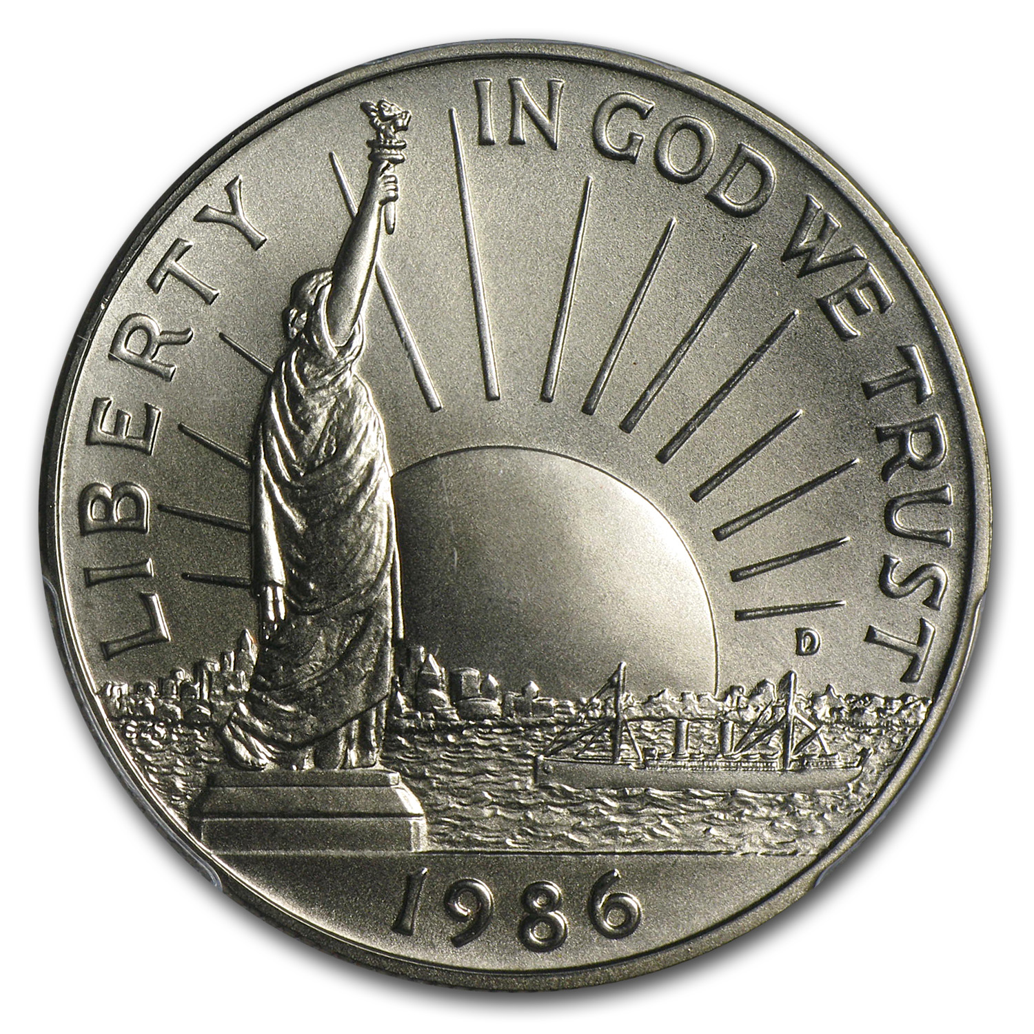 1986-D Statue of Liberty Half Dollar Clad Commem MS-70 PCGS (RS)